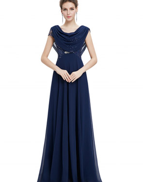 photo Cowl Neck Maxi Ball Gown Prom Evening Dress by OASAP - Image 4