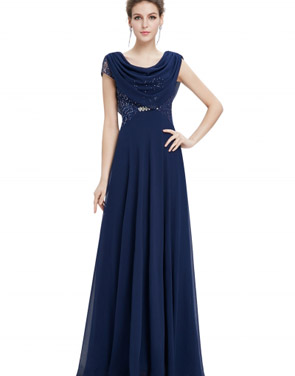 photo Cowl Neck Maxi Ball Gown Prom Evening Dress by OASAP - Image 5