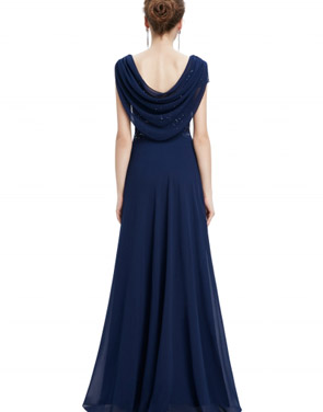 photo Cowl Neck Maxi Ball Gown Prom Evening Dress by OASAP - Image 6