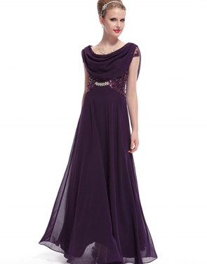 photo Cowl Neck Maxi Ball Gown Prom Evening Dress by OASAP - Image 7