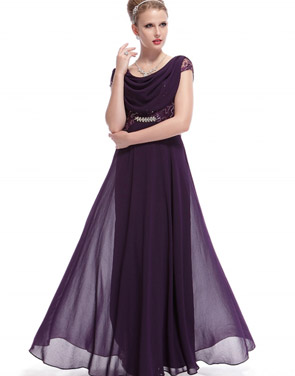 photo Cowl Neck Maxi Ball Gown Prom Evening Dress by OASAP - Image 8