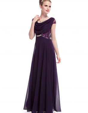 photo Cowl Neck Maxi Ball Gown Prom Evening Dress by OASAP - Image 9