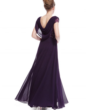 photo Cowl Neck Maxi Ball Gown Prom Evening Dress by OASAP - Image 10
