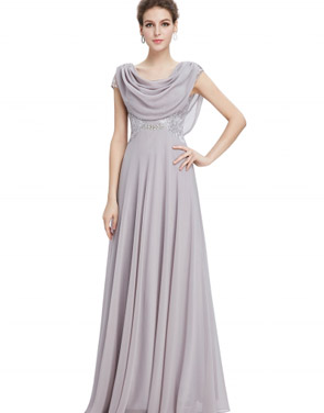 photo Cowl Neck Maxi Ball Gown Prom Evening Dress by OASAP - Image 1
