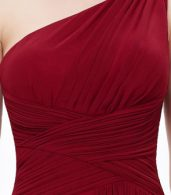 photo Elegant One Shoulder Slitted Ruched Evening Dress by OASAP - Image 13