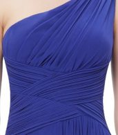 photo Elegant One Shoulder Slitted Ruched Evening Dress by OASAP - Image 17