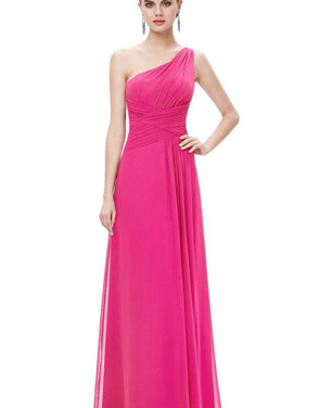 photo Elegant One Shoulder Slitted Ruched Evening Dress by OASAP - Image 20