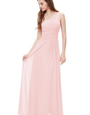 photo Elegant One Shoulder Slitted Ruched Evening Dress by OASAP - Image 7
