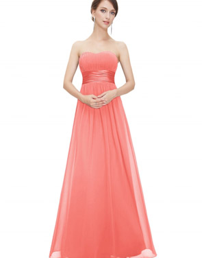 photo Elegant Strapless Maxi Prom Evening Party Dress by OASAP - Image 2