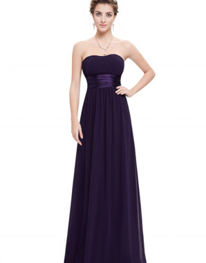photo Elegant Strapless Maxi Prom Evening Party Dress by OASAP - Image 11
