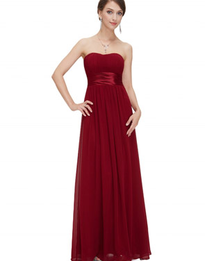 photo Elegant Strapless Maxi Prom Evening Party Dress by OASAP - Image 13