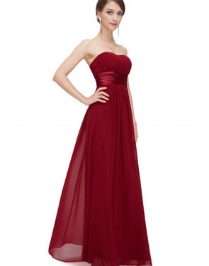 photo Elegant Strapless Maxi Prom Evening Party Dress by OASAP - Image 14