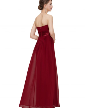 photo Elegant Strapless Maxi Prom Evening Party Dress by OASAP - Image 15