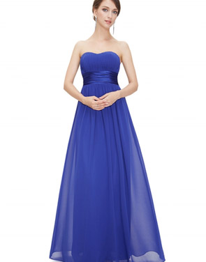 photo Elegant Strapless Maxi Prom Evening Party Dress by OASAP - Image 16