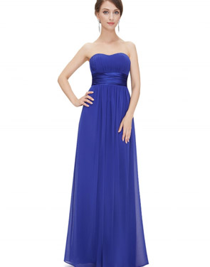 photo Elegant Strapless Maxi Prom Evening Party Dress by OASAP - Image 17