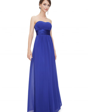 photo Elegant Strapless Maxi Prom Evening Party Dress by OASAP - Image 18