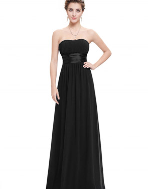 photo Elegant Strapless Maxi Prom Evening Party Dress by OASAP - Image 20