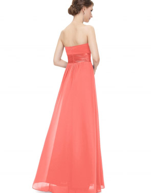 photo Elegant Strapless Maxi Prom Evening Party Dress by OASAP - Image 3
