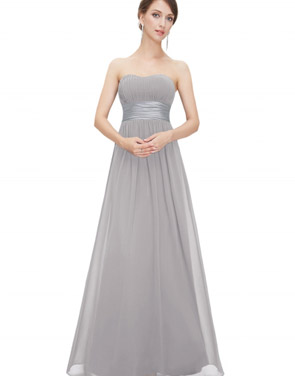 photo Elegant Strapless Maxi Prom Evening Party Dress by OASAP - Image 4