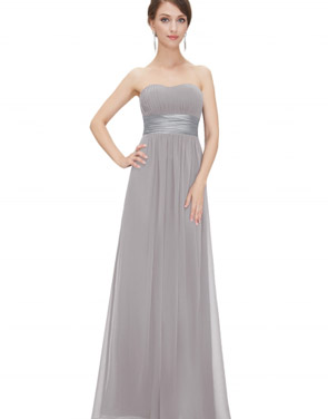 photo Elegant Strapless Maxi Prom Evening Party Dress by OASAP - Image 5