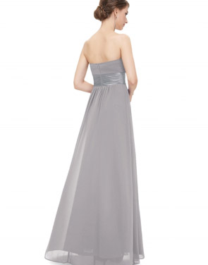 photo Elegant Strapless Maxi Prom Evening Party Dress by OASAP - Image 6