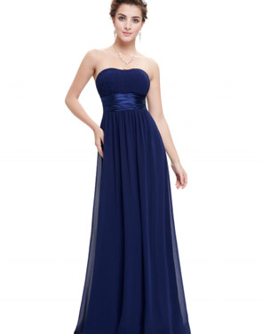 photo Elegant Strapless Maxi Prom Evening Party Dress by OASAP - Image 7