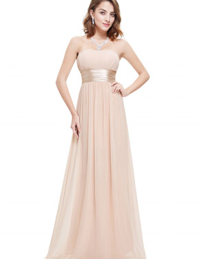 photo Elegant Strapless Maxi Prom Evening Party Dress by OASAP - Image 9