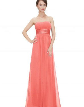 photo Elegant Strapless Maxi Prom Evening Party Dress by OASAP - Image 1
