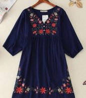 photo Embroidery Floral Loose Dress by OASAP - Image 5