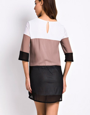 photo Fashion Color Block Mini Dress by OASAP - Image 2