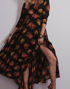 photo Fashion Floral Printing Maxi Dress by OASAP - Image 7