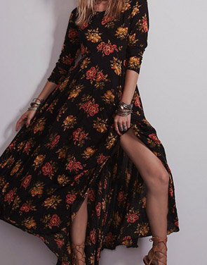 photo Fashion Floral Printing Maxi Dress by OASAP - Image 1