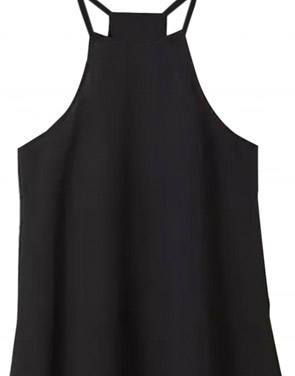 photo Fashion Halter Neck Sleeveless A-Line Mini Dress by OASAP - Image 2