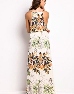 photo Floral Print Sleeveless Maxi Dress by OASAP, color Multi - Image 2