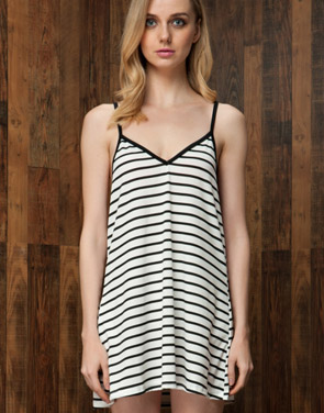 photo Gorgeous Striped Backless Mini Dress by OASAP, color White - Image 1