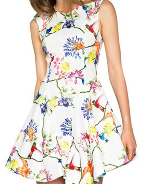 photo Grace Elements Sleeveless Print Mini Dress by OASAP, color Multi - Image 1