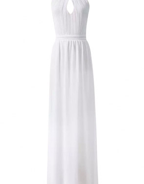 photo Halter Cut-out FronT-Backless Maxi Chiffon Dress by OASAP - Image 11