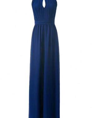 photo Halter Cut-out FronT-Backless Maxi Chiffon Dress by OASAP - Image 9