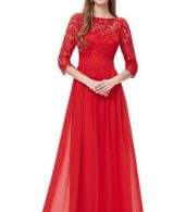 photo Lace Paneled Long Sleeve Floor Length Evening Dress by OASAP - Image 15