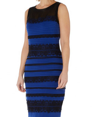 photo Lace Splicing Stripe Sleeveless O-Neck Bodycon Dress by OASAP, color Black Blue - Image 2
