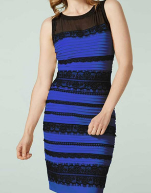 photo Lace Splicing Stripe Sleeveless O-Neck Bodycon Dress by OASAP, color Black Blue - Image 1