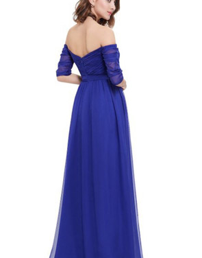 photo Off Shoulder Evening Gown with Sweetheart Neckline by OASAP - Image 11