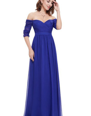 photo Off Shoulder Evening Gown with Sweetheart Neckline by OASAP - Image 12