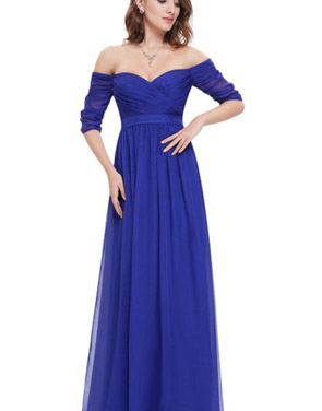 photo Off Shoulder Evening Gown with Sweetheart Neckline by OASAP - Image 13