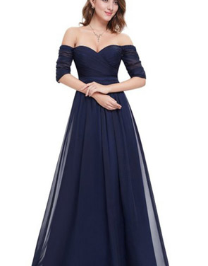 photo Off Shoulder Evening Gown with Sweetheart Neckline by OASAP - Image 15
