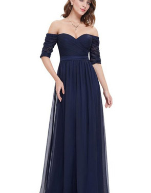 photo Off Shoulder Evening Gown with Sweetheart Neckline by OASAP - Image 17