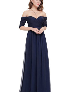 photo Off Shoulder Evening Gown with Sweetheart Neckline by OASAP - Image 18