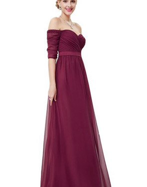 photo Off Shoulder Evening Gown with Sweetheart Neckline by OASAP - Image 3