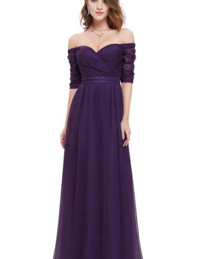 photo Off Shoulder Evening Gown with Sweetheart Neckline by OASAP - Image 5