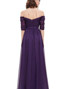photo Off Shoulder Evening Gown with Sweetheart Neckline by OASAP - Image 6